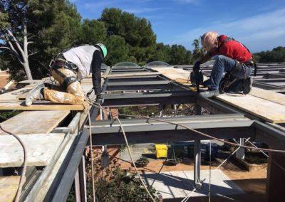 Montaje techo de claraboyas