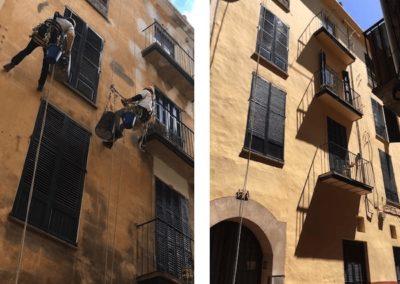 Rehabilitación de fachada en zona histórica de Palma de Mallorca