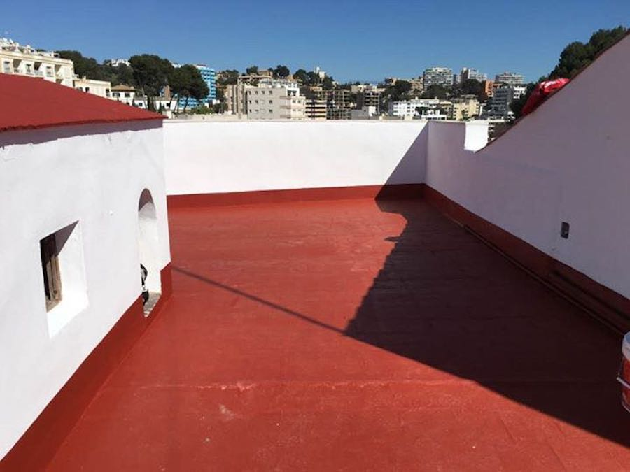 La resina de polietileno para la impermeabilización de cubiertas y terrazas