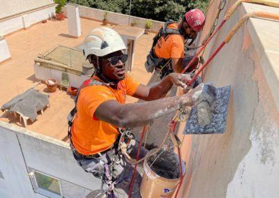 Rehabilitación de fachada en El Coi Terrabasa, cala 10 en Palma