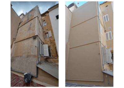 Reforma de fachada (Antes y Después) Calle Socorro, 46 en Palma