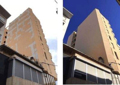 Restauración de fachada de comunidad de propietarios en Manacor
